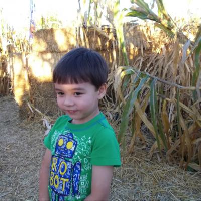 Oliver's first community garden…